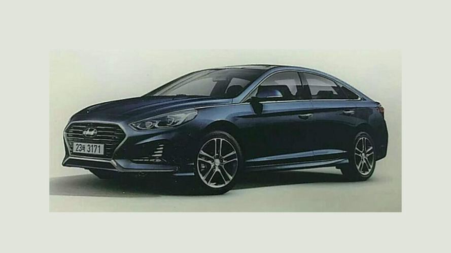 2018 Hyundai Sonata facelift pops up to show sportier design