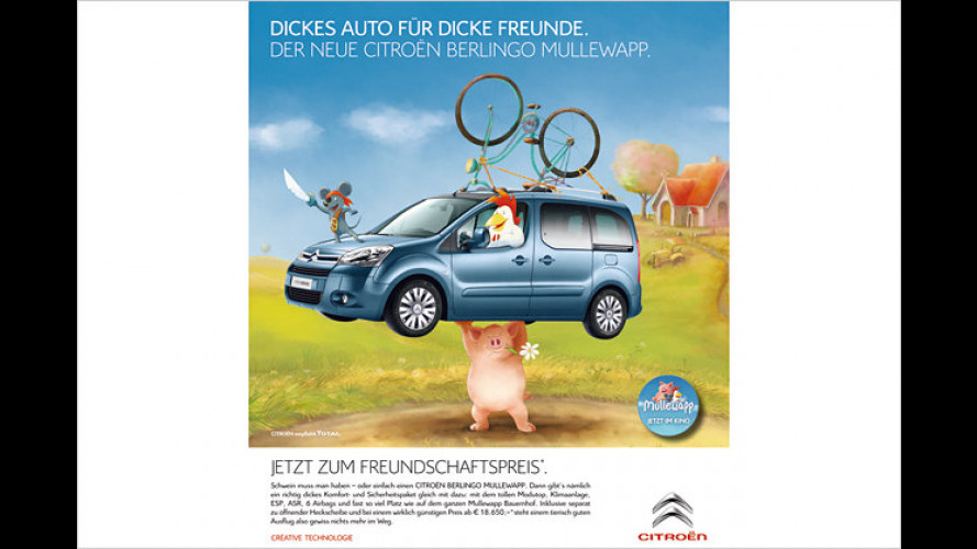 Kumpels sparen: Sondermodell Citroën Berlingo Mullewapp