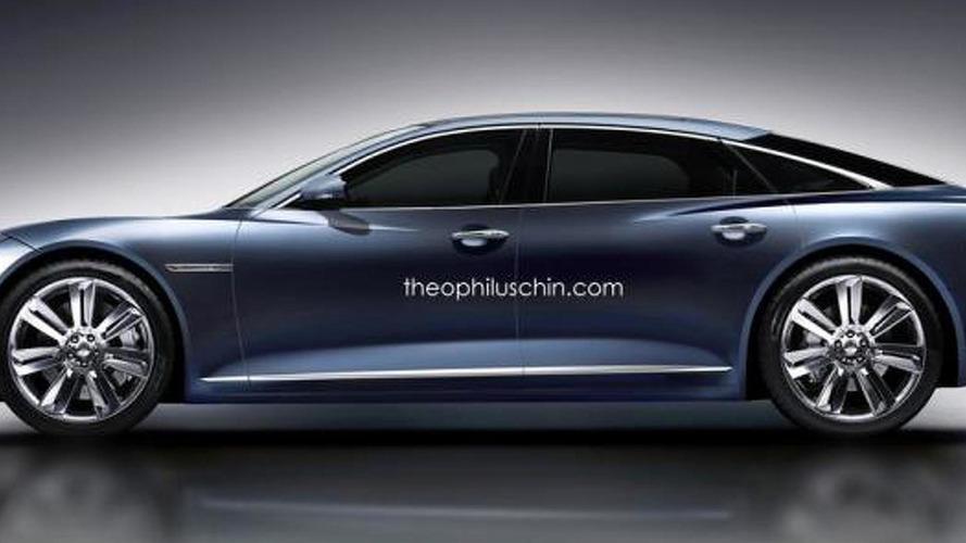 Jaguar C-XJ flagship model rendered with Giugiaro GEA influences