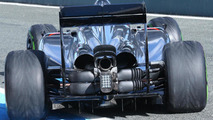 McLaren MP4-29 rear suspension blockers detail 29.01.2014. Formula One Testing Jerez Spain