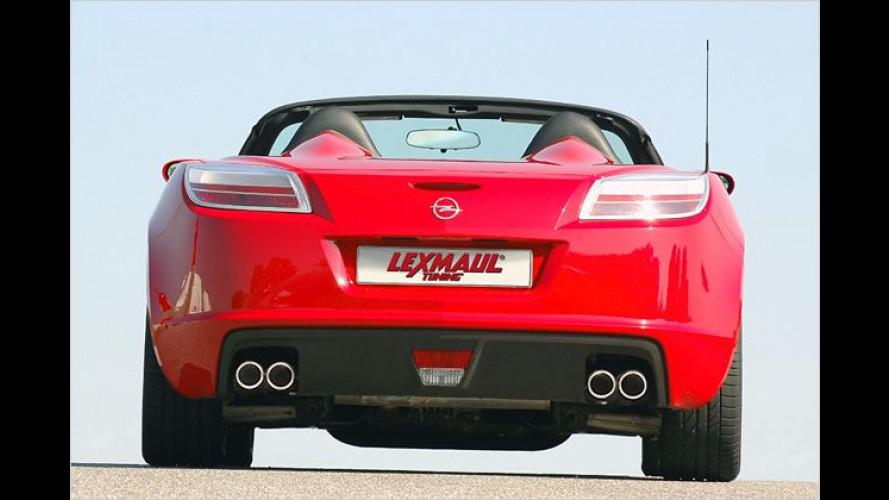 Eins hinten drauf: Lexmaul dreht beim Opel GT die Bässe auf