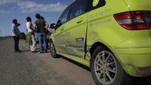 Mercedes B-Class F-Cell crashes Kasakhstan 13.05.2011