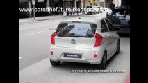 Novo Kia Picanto 2012 é flagrado sem disfarces