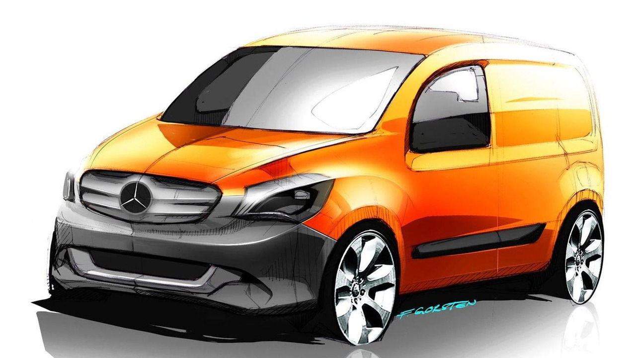 Mercedes-Benz Citan design sketch 03.02.2012