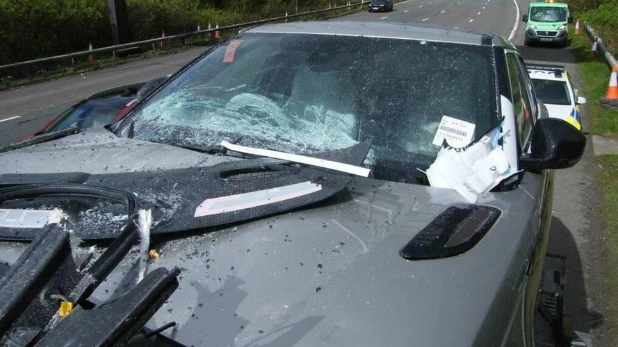 Range Rover Velar, Evoque crash