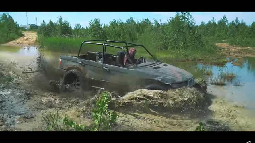 Watch how a wrecked BMW X5 becomes an awesome off-roader