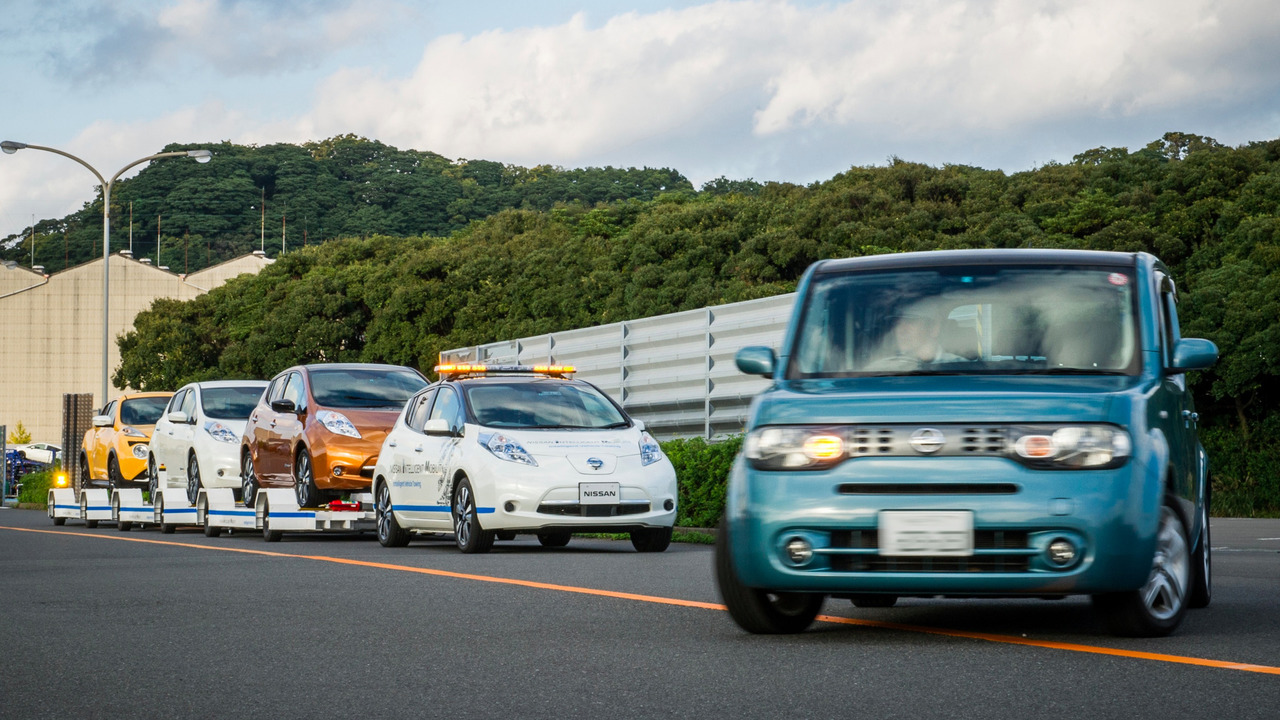 Nissan Leaf autonome remorquage