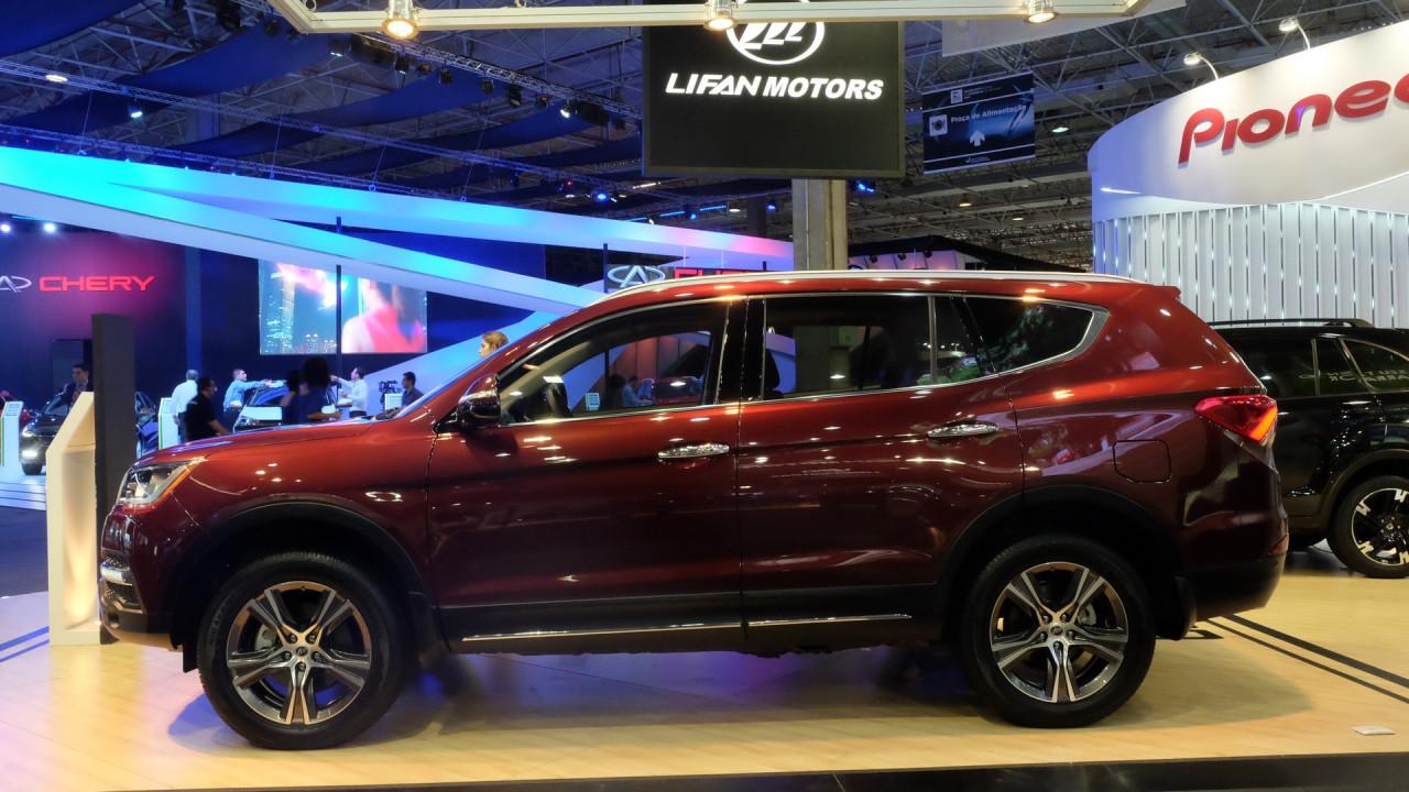 Salão do Automóvel: Lifan X80, SUV para sete passageiros, faz estreia mundial no Brasil