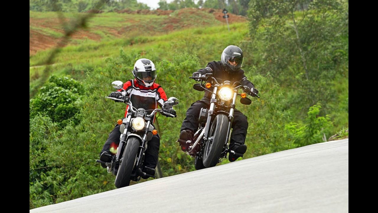 Duelo ianque: a esportividade da Indian Scout ou a tradição da Harley Forty-Eigth?