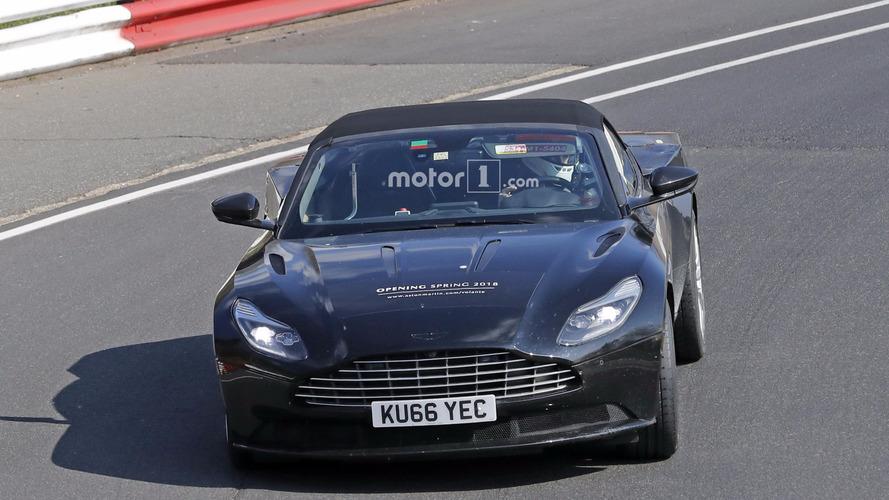 2018 Aston Martin DB11 Unidentified Coupe and DB11 Volante spy photos