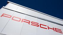 Porsche Team transporter and logo / signage