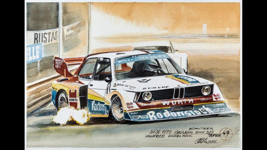 BMW: 101 pinturas increíbles hechas con café