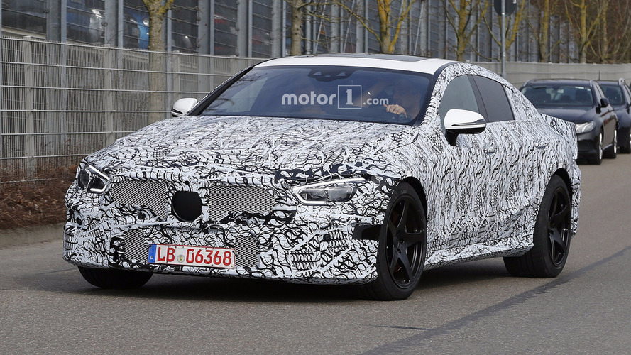 Mercedes-AMG GT sedan echoes concept's design in first spy shots