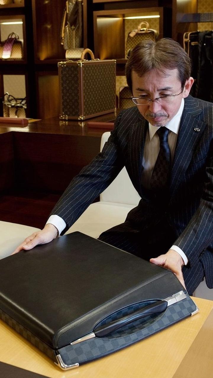 Shiro Nakamura – Senior VP Infiniti Design with Louis Vuitton luggage
