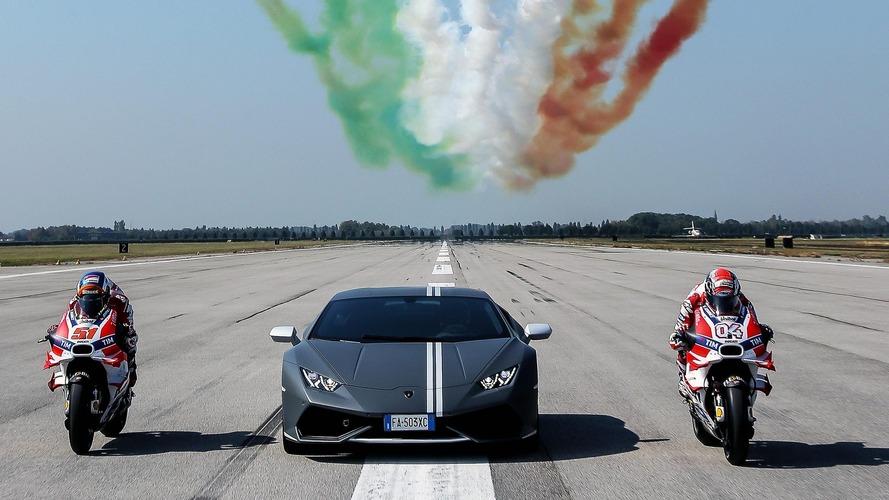 Lamborghini, Passioni Tricolori'yi Ducati ve İtalyan Hava Kuvvetleri ile kutladı