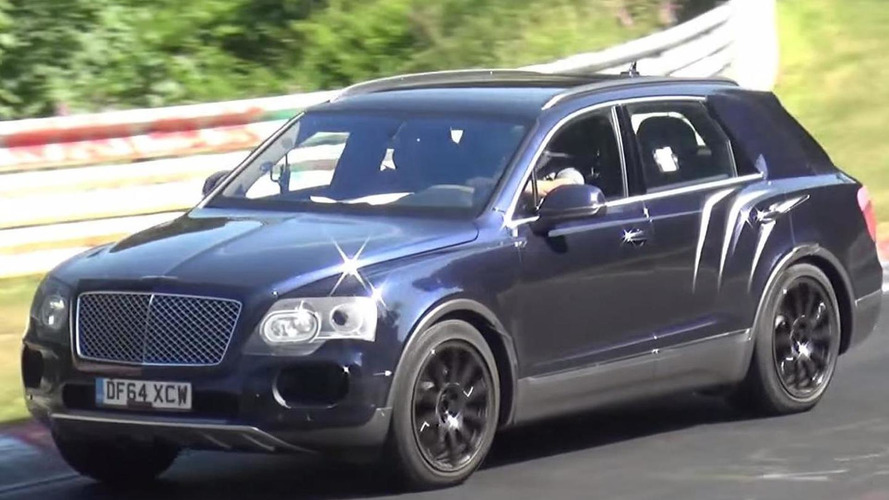 Bentley test driver destroying Bentayga's tires on the 'Ring in new spy video