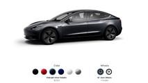 Tesla Model 3 configurator