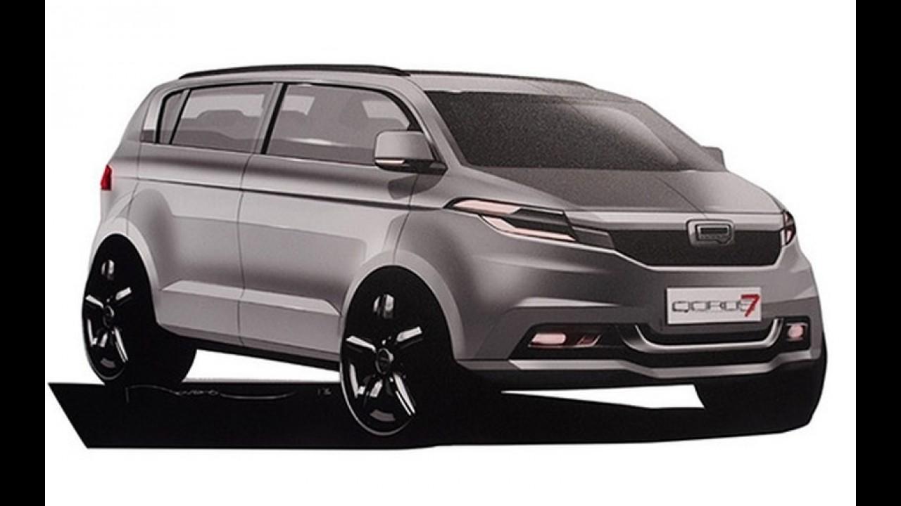 Qoros terá sedã grande e minivan de sete lugares nos próximos anos