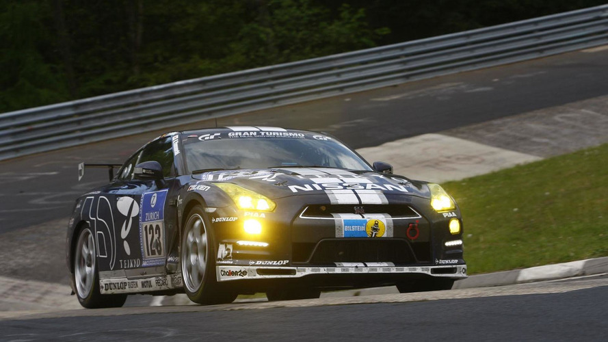 Nissan GT-R takes a class victory at the 24 Hours of Nurburgring