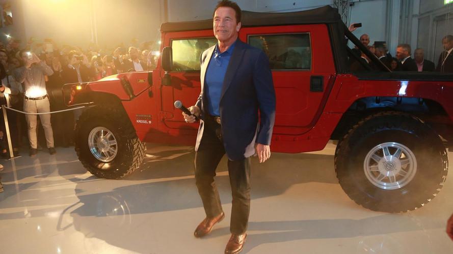 Kreisel Electric Hummer H1 With Arnold Schwarzenegger
