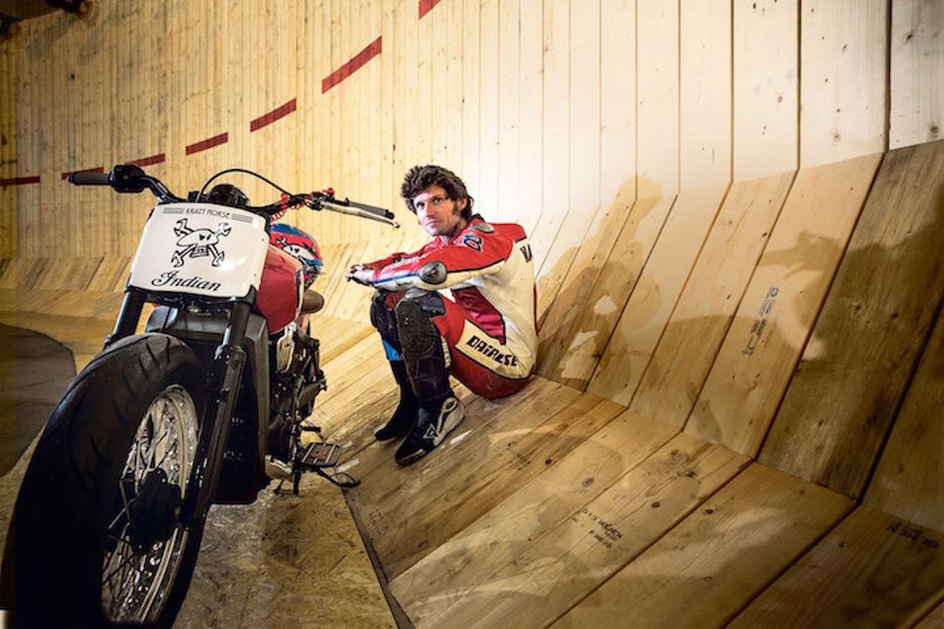 Watch Guy Martin Break a 'Wall of Death' World Record