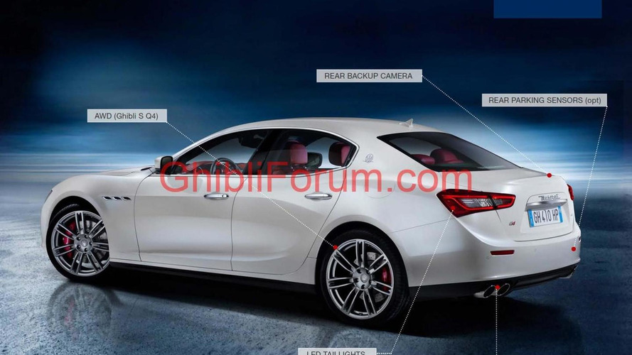 2014 Maserati Ghibli ordering guide surfaces