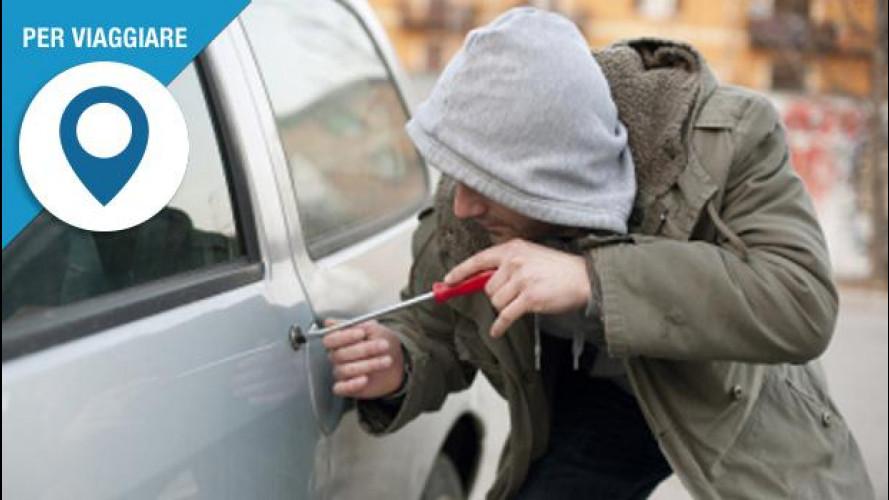 Viaggi con l'auto a noleggio? Occhio al furto