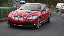 Jaguar XF-R in red spy photos