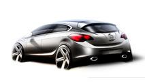 2012 Opel Astra OPC hatchback sketch - 1600 - 08.07.2009