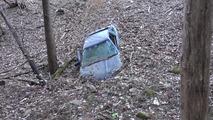 Crashed Toyota Supra A70