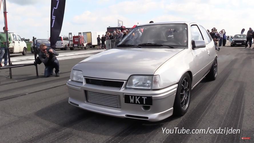 1267 beygirlik Opel Kadett'in 313 km/s hızına ulaşmasını izleyin