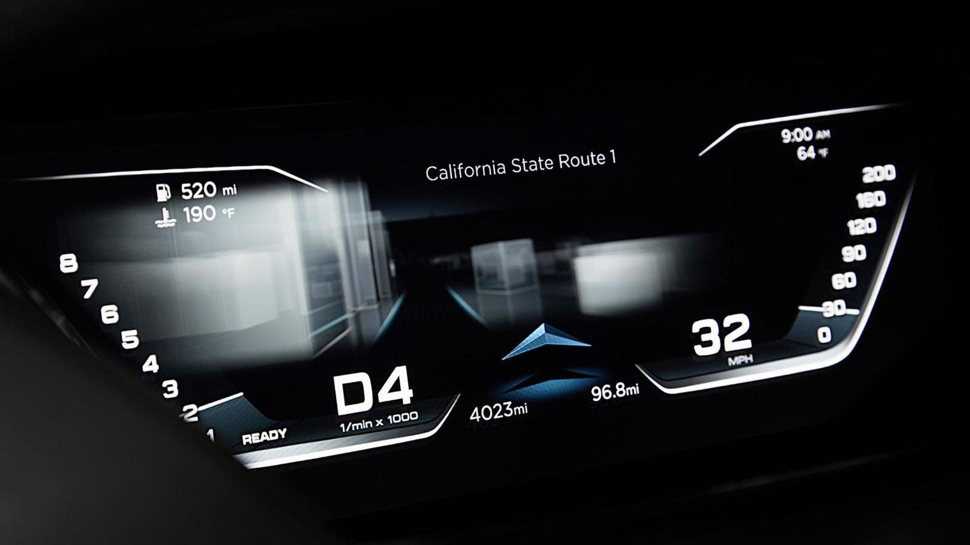 Цифровая приборная панель Audi Prologue Piloted Driving