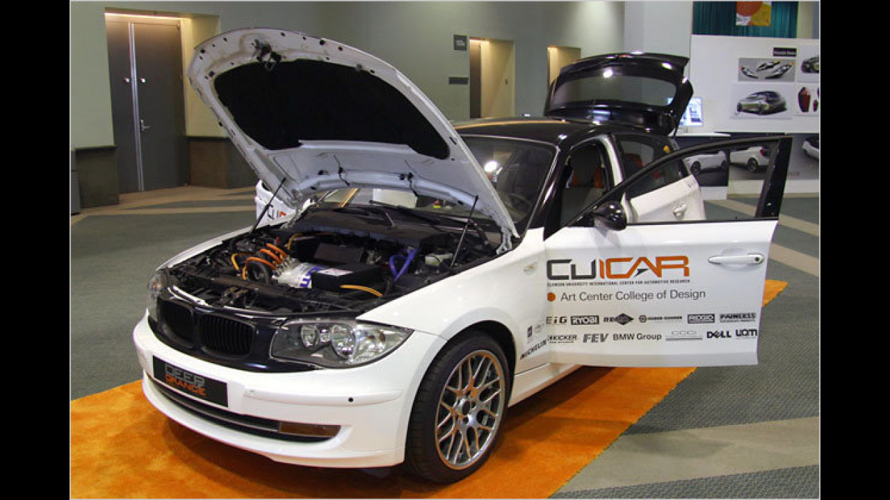 Deep Orange BMW 1er Plug-in-Hybrid