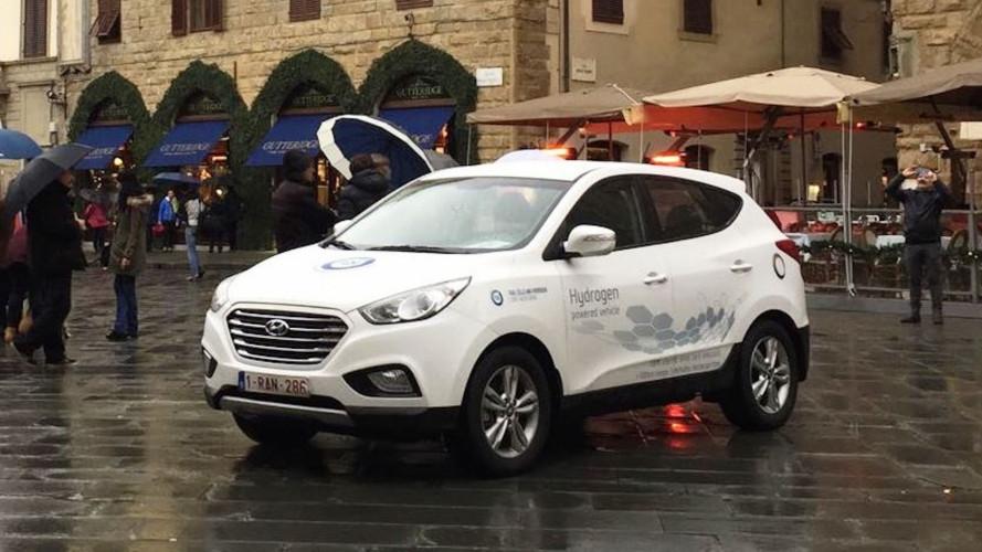 Da Bruxelles a Napoli con una Hyundai ix35 a idrogeno