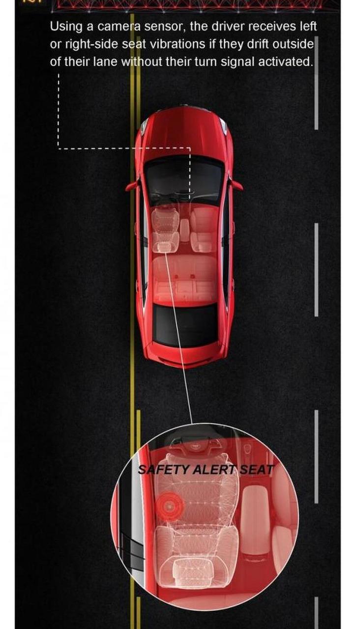 Cadillac XTS safety alert seat 28.03.2012