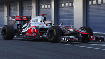 Lewis Hamilton tests new McLaren