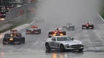 The race under the Safety car, Sebastian Vettel (GER), Red Bull Racing - Formula 1 World Championship, Rd 17, Korean Grand Prix, 24.10.2010 Yeongam, Korea