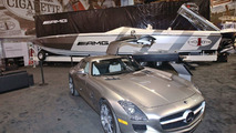 Mercedes SLS AMG inspired Cigarette Racing Boat, Miami International Boat Show - 17.02.2010