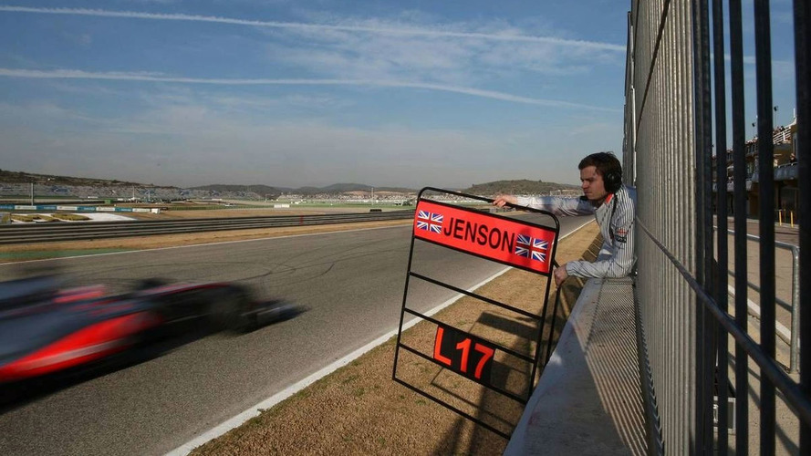 Button frustrated, Alonso cautious after test