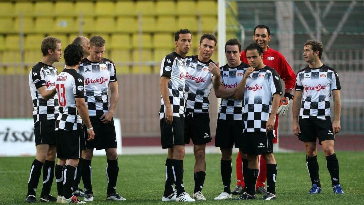 Sebastian Vettel (GER), Fernando Alonso (ESP), Felipe Massa (BRA), Jarno Trulli (ITA), Star Team vs Nazionale Piloti, Charity Football Match, Monaco, Stade Louis II, 19.05.2009 Monte Carlo, Monaco