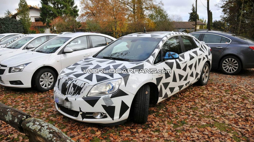 Baby Buick Spied with Less Camouflage