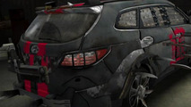 Hyundai Santa Fe Zombie Survival Machine  07.10.2013