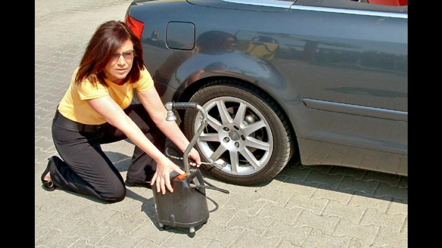 Mit dem richtigen Reifendruck sparen
