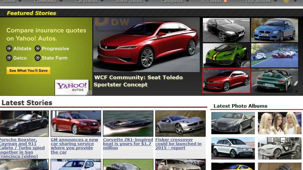 WCF redesign screenshot