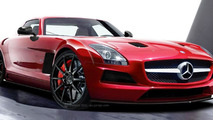 Mercedes SLS AMG Black Series rendering - 22.9.2011