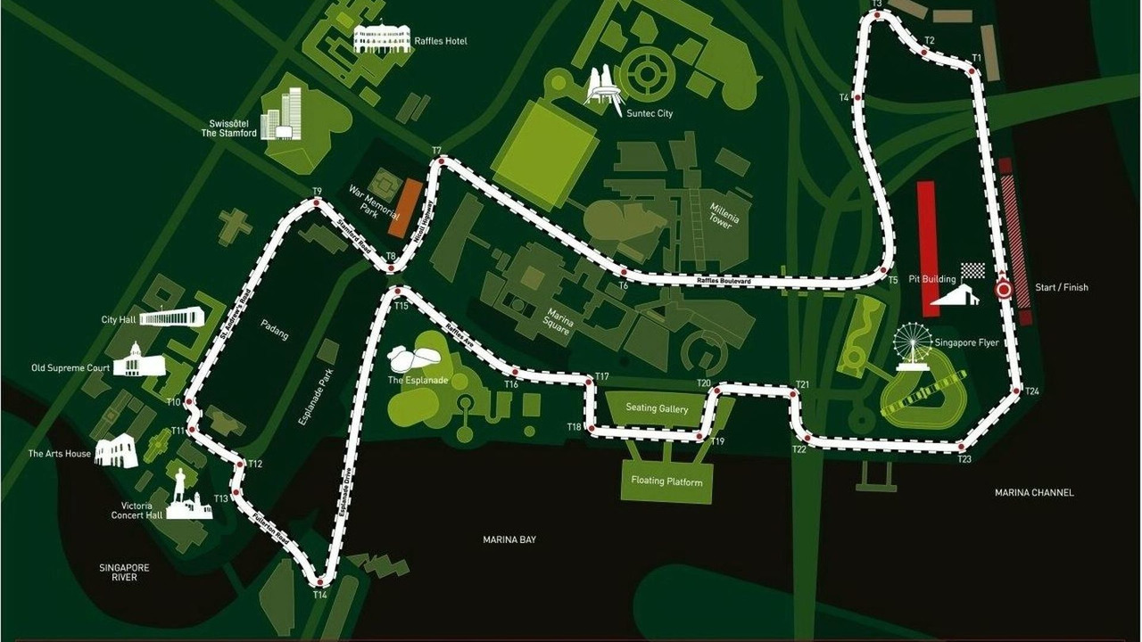 Singapore F1 GP Map