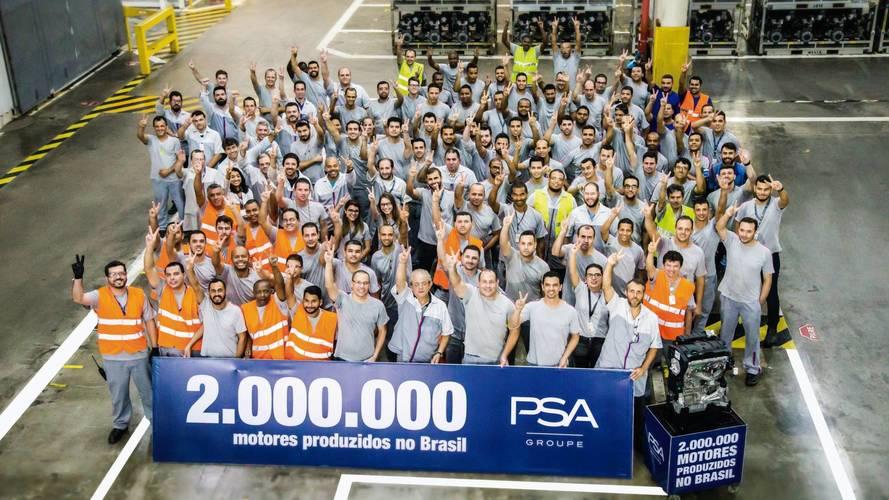 PSA alcança 2 milhões de motores produzidos no Brasil