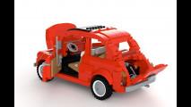 La Fiat 500 fatta di mattoncini Lego