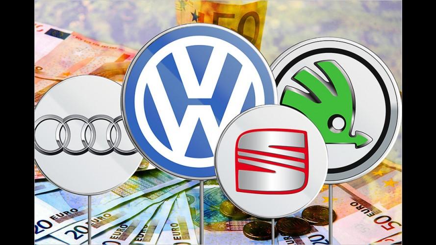 Diesel-Prämie: Das zahlen Audi, Seat, Skoda und VW