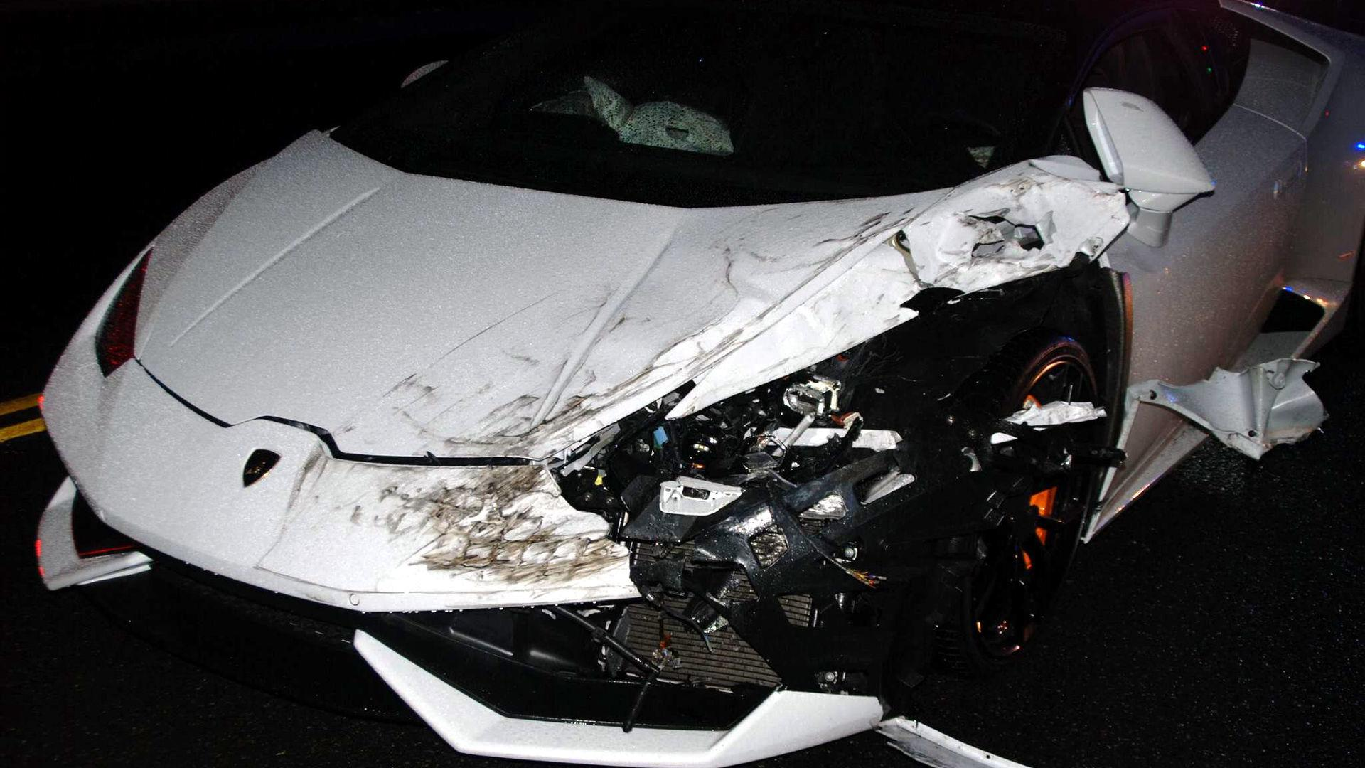 23 Year Old Party Goer Crashes Rented Lamborghini In